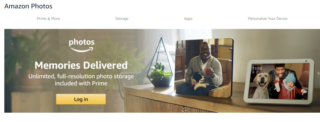 Amazon Photos offers unlimited photo storage and 5 GB video storage to Prime members.