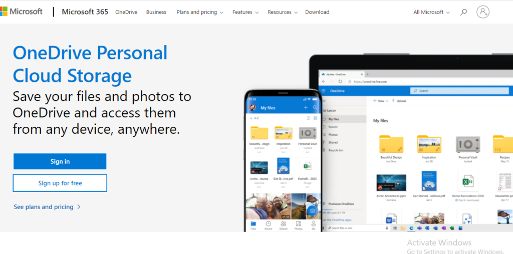 Microsoft One Drive, previously known as SkyDrive, gives cloud storage services just like Google.