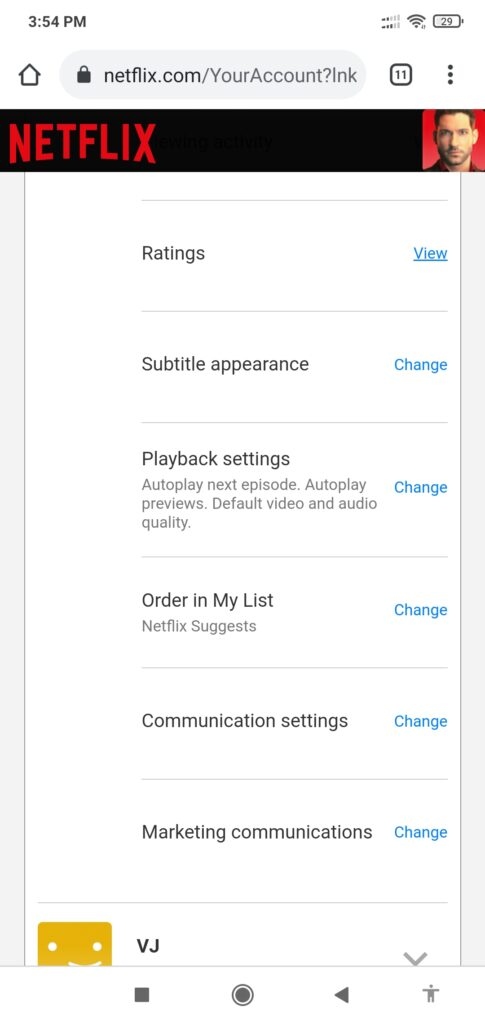 Disable Autoplay in Netflix by Mobile