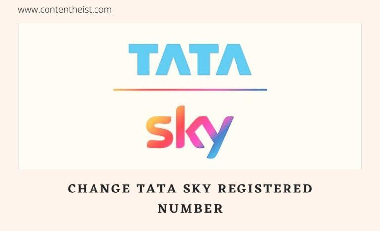 change tata sky registered number