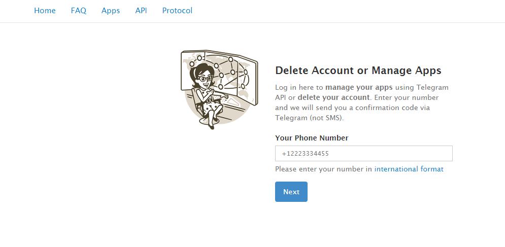 Delete all Social Media Accounts, Delete Telegram Account