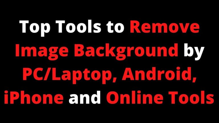 How to Remove Image Background