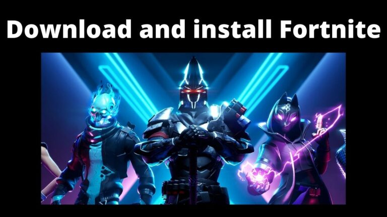 Download and install Fortnite