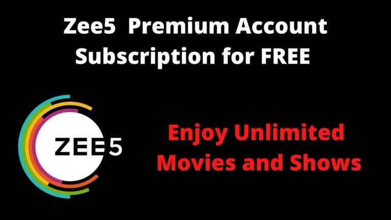 Zee5 Premium Account Subscription for FREE